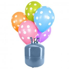 Botija de Hélio Mini com 30 Balões Lunares
