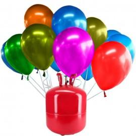 Botijão de Hélio Maxi com 50 Balões Metalizados