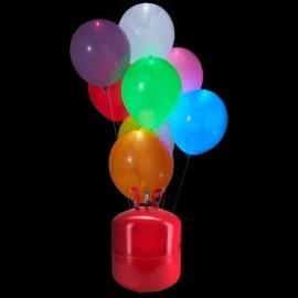 Botijão de Hélio Maxi com 50 Balões Led