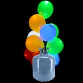 Botija de Hélio Mini com 30 Balões Led