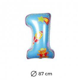 Balão Primeiro Ano Menino Foil 87 cm