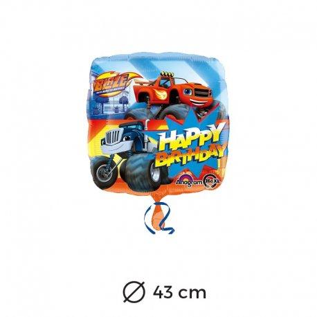 Balão Foil Happy Birthday Blaze 43 cm