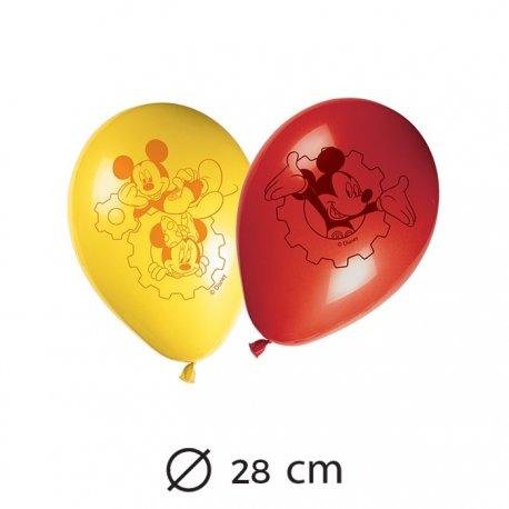 8 Balões Mickey Mouse 28 cm