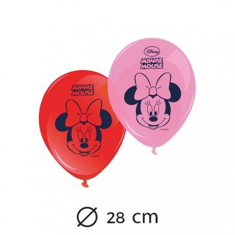 8 Balões Minnie Mouse 28 cm