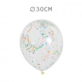 6 Balões de Confete 30 cm