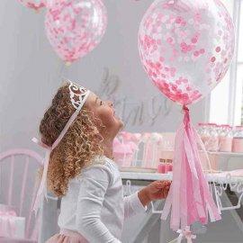 5 Balões com Confete 30 cm