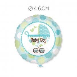 Balões Baby Shower Menino com Carrinho 46 cm