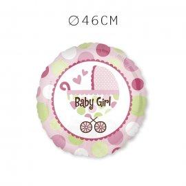 Balões Baby Shower Menina com Carrinho 46 cm
