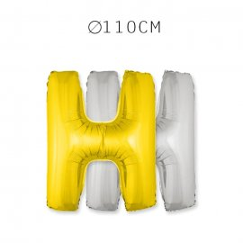 Balão Letra H 110 cm