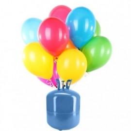 Botija de Hélio Mini com 30 Balões Pastel