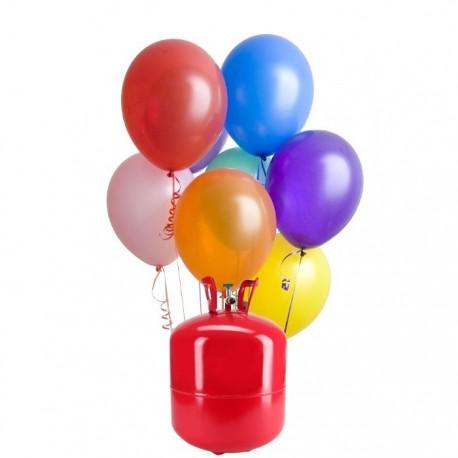 Botijão de Hélio Maxi com 50 Balões Pastel