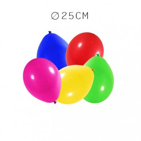 Balões Redondos de Látex 25 cm