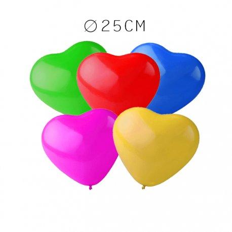 Balão Coração de Látex 25 cm