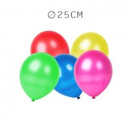 Balões Metalizados de Látex 25 cm
