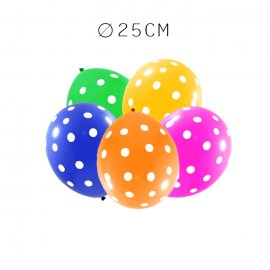 Balão com Bolinha de Látex 25 cm