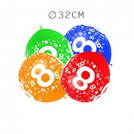 Balões Número 8 Redondos 32 cm