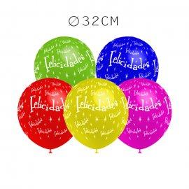 Balões Felicidades Redondos 32 cm