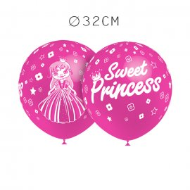 Balões Sweet Princess Redondos 32 cm
