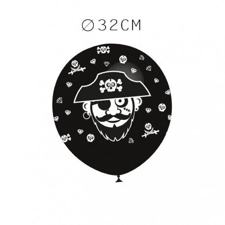 Balões Pirata Redondos 32 cm