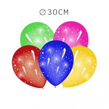 Balões Fogos Artificiais Redondos 30 cm