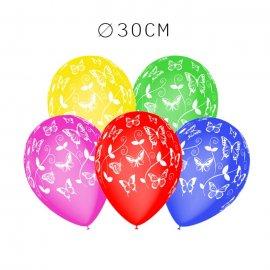 Balões Borboletas M02 Redondos 30 cm