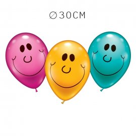 Balões Sorriso Redondo 30 cm