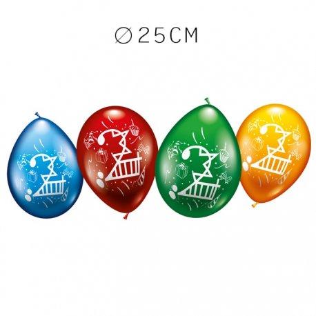 Balões Número 2 Redondos M02 25 cm