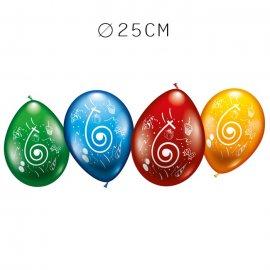 Balões Número 6 Redondos M02 25 cm