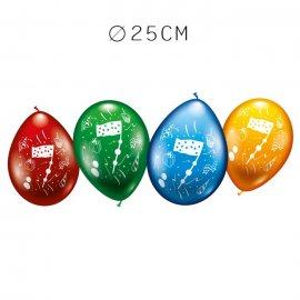 Balões Número 7 Redondos M02 25 cm