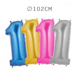 Balão Número 1 Foil 102 cm