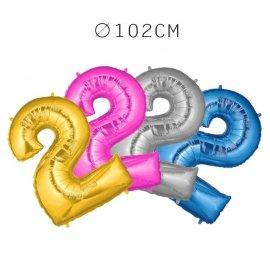 Balão Número 2 Foil 102 cm