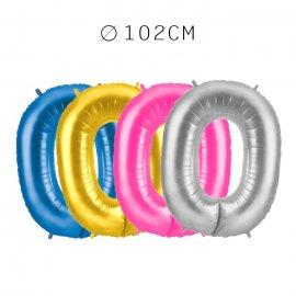 Balão Número 0 Foil 102 cm