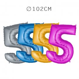 Balão Número 5 Foil 102 cm