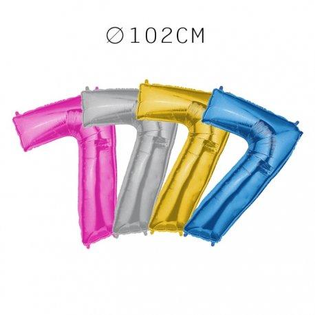 Balão Número 7 Foil 102 cm