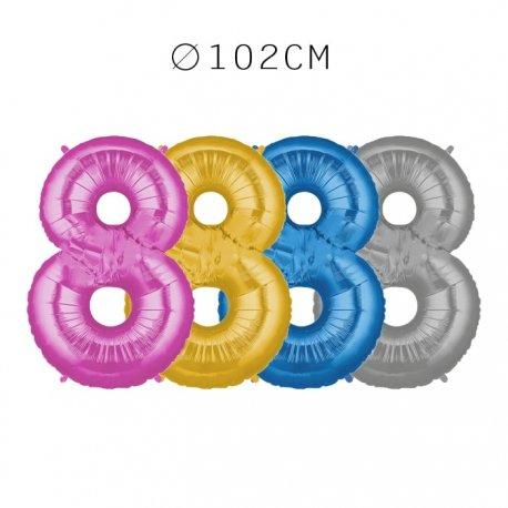 Balão Número 8 Foil 102 cm