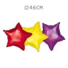 Balão Forma Estrela Foil 46 cm