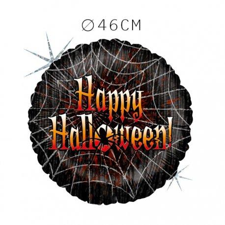 Balão Happy Halloween Teias de Aranha Foil 46 cm