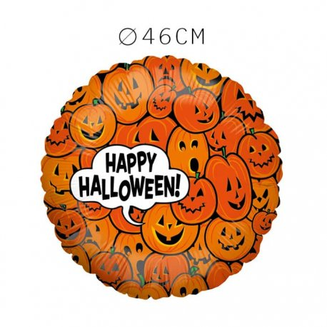 Balão Happy Halloween Abóboras Foil 46 cm