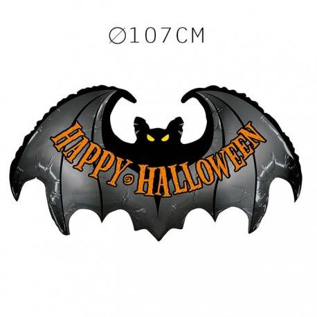 Balão Halloween Forma Morcego Foil 107 cm