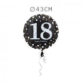 Balão Foil 18 Anos Elegante 43 cm