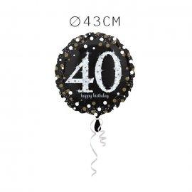 Balão Foil 40 Anos Elegante 43 cm