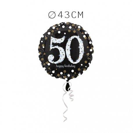 Balão Foil 50 Anos Elegante 43 cm
