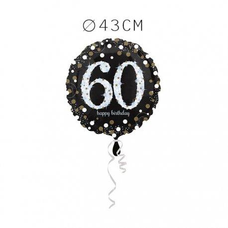Balão Foil 60 Anos Elegante 43 cm