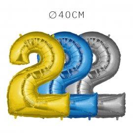 Balão Número 2 Foil 40 cm