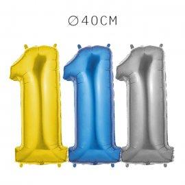 Balão Número 1 Foil 40 cm