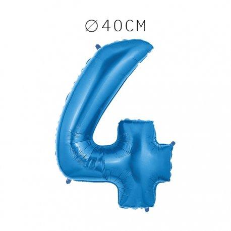 Balão Número 4 Foil 40 cm