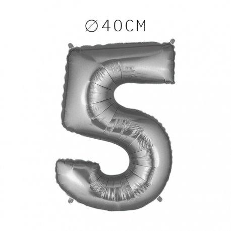 Balão Número 5 Foil 40 cm