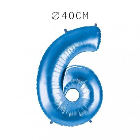 Balão Número 6 Foil 40 cm