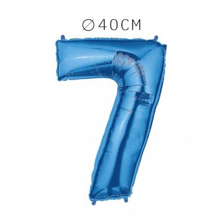 Balão Número 7 Foil 40 cm