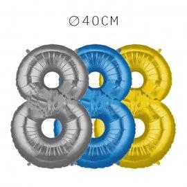 Balão Número 8 Foil 40 cm